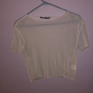 Sparkly See Through Brandy Melville Top